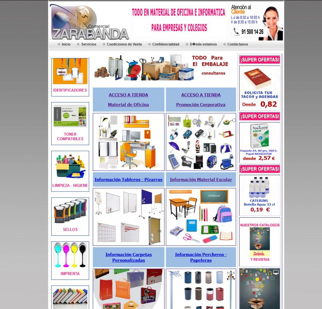 Web Comercial Zarabanda