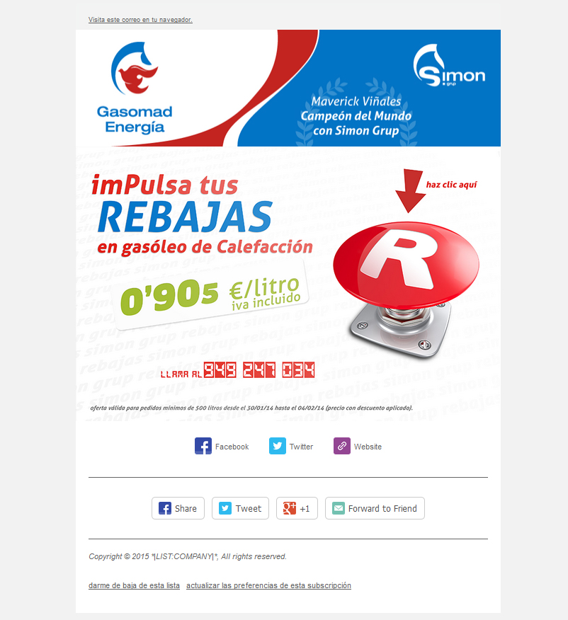 Newsletter gasolinera