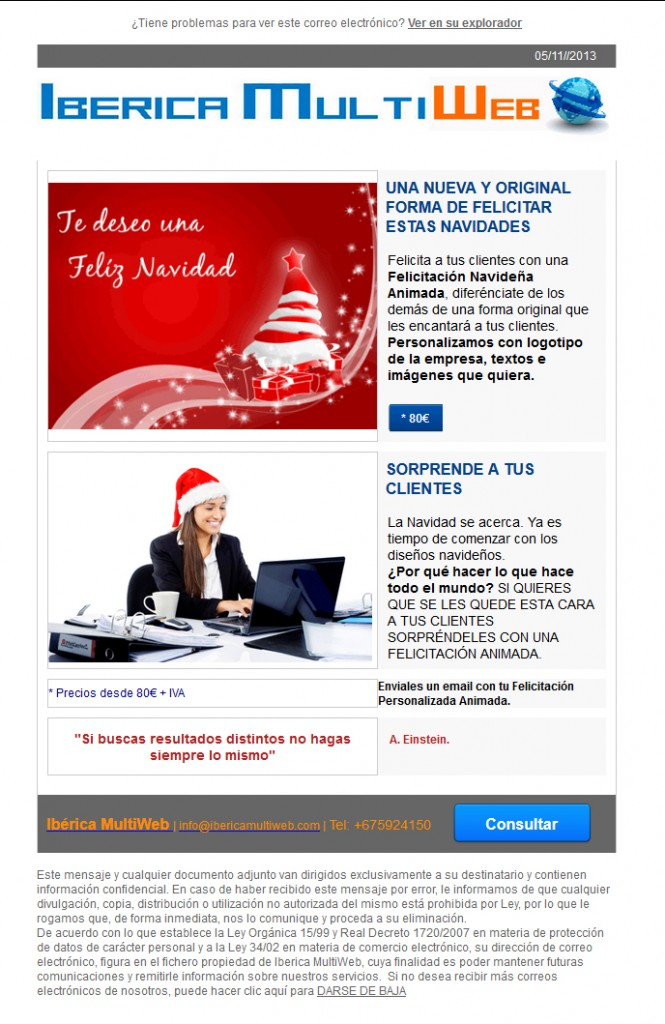 Newsletter Ibérica MultiWeb