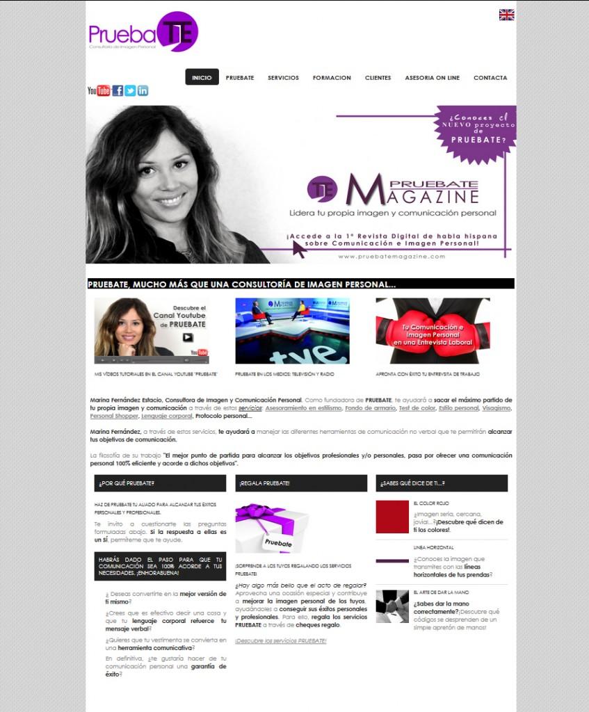 Página Web Pruebate