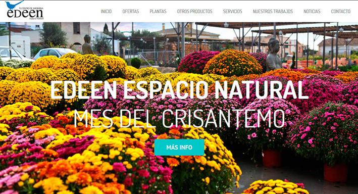 Web EDEEN centro de jardinería