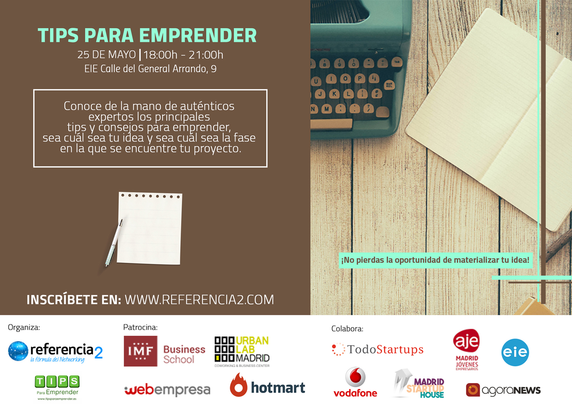 Tips Para Emprender. El evento.