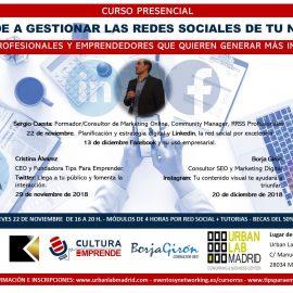 Curso presencial Redes Sociales Madrid