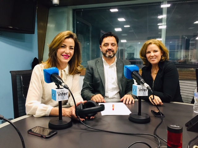 Andres Dulanto, Ines Sainz y Cristina Alvarez